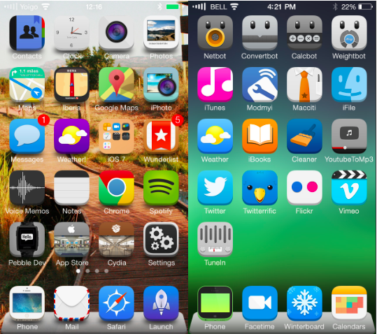 The 12 Best Ios 7 Themes For Iphone Syncios Blog