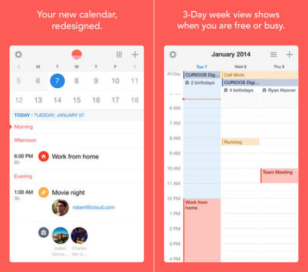 top 5 iphone apps - sunrise calendar