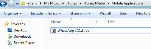 whatsapp ipa file path