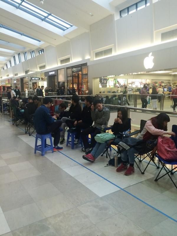 apple iphone line