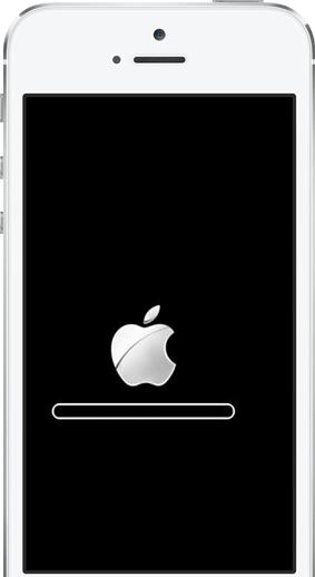 stuck on apple logo