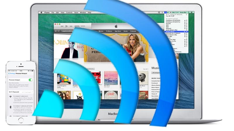 share wifi iphone mac