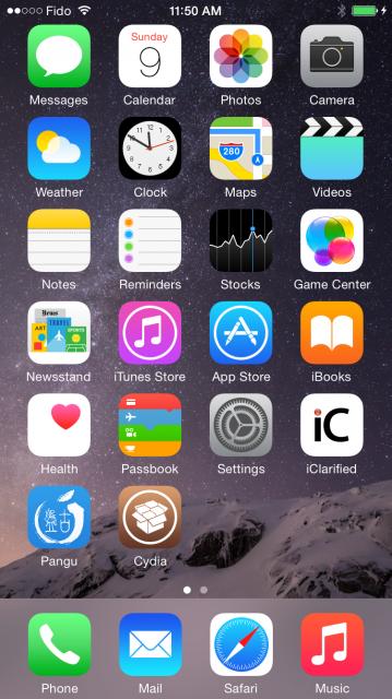 cydia on iOS 8