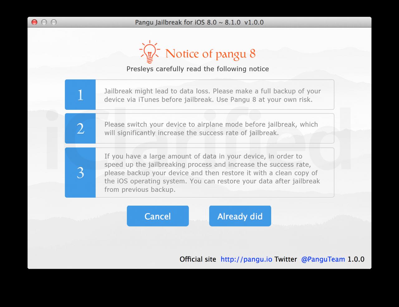 Pangu8 notice