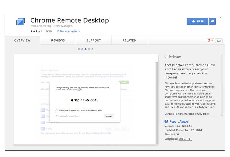 Chrome Remote Desktop 2