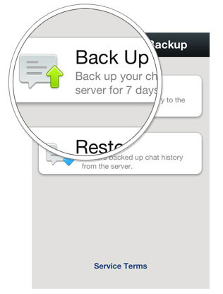 backup wechat message