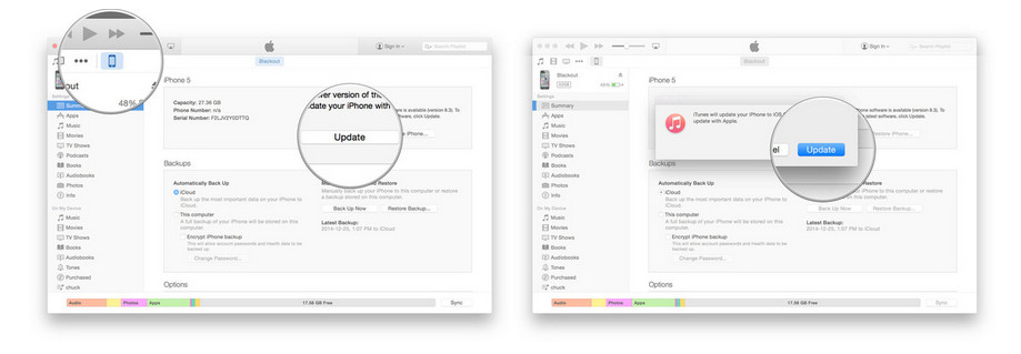 how to make iphone appear on itunes