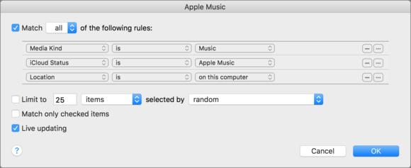 Apple Music Track on Mac