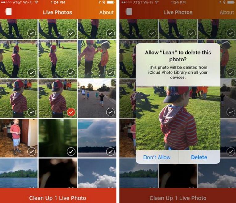eliminate iPhone 6s live photos