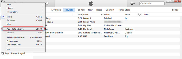 itunes how to put playlist in your iphone