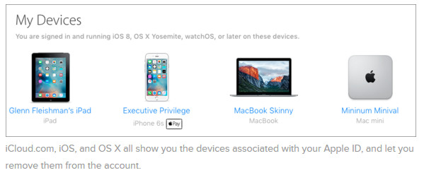 icloud devices