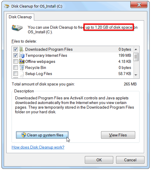 clean system files