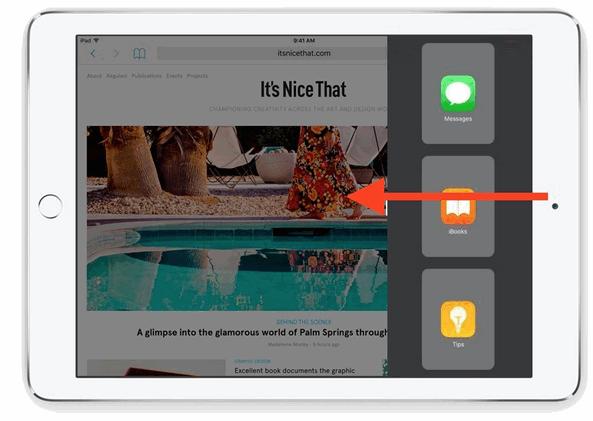 Slide Over on iPad