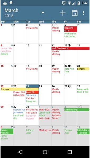 Top 7 Best Calendar App For Android Best Android Calendar Widgets