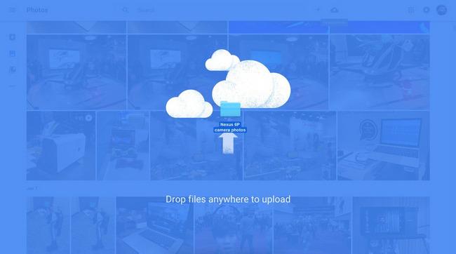 google photos drag drop