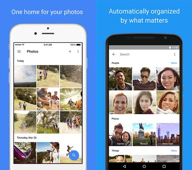 google photos ios android