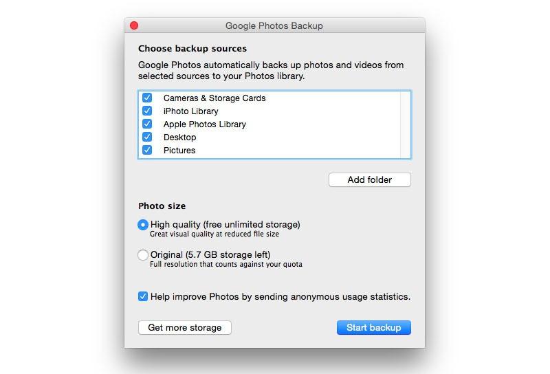 google photos mac