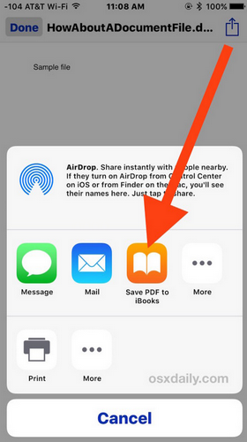 save mail attche on ibook