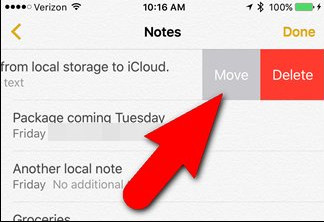 move notes to icloud
