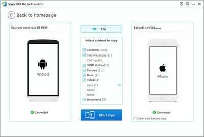android to ios transfer