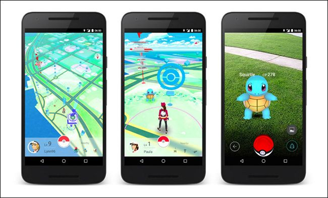 screenshot of pokemon go