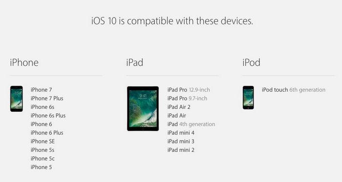 ios 10 compatibility