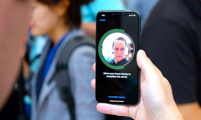 Face ID on iPhone X
