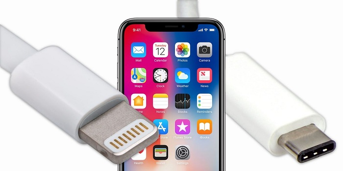 type-c charge iPhone X