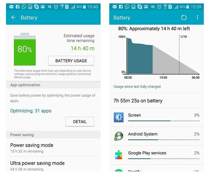 Google play service battery