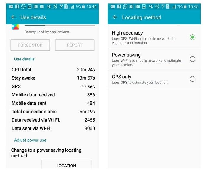 google paly service battery