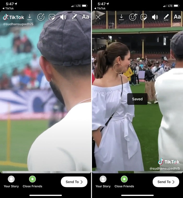 download Tiktok videos using Instagram