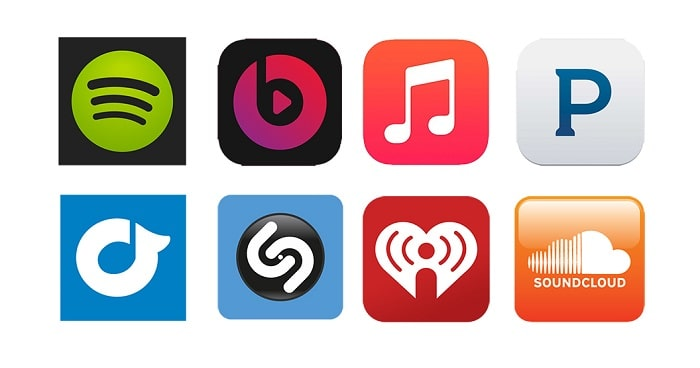 stream music logos