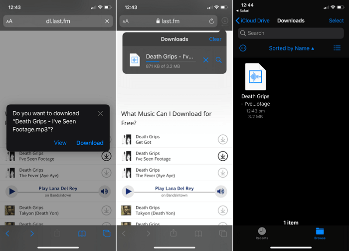 download files on iOS 13 using Safari