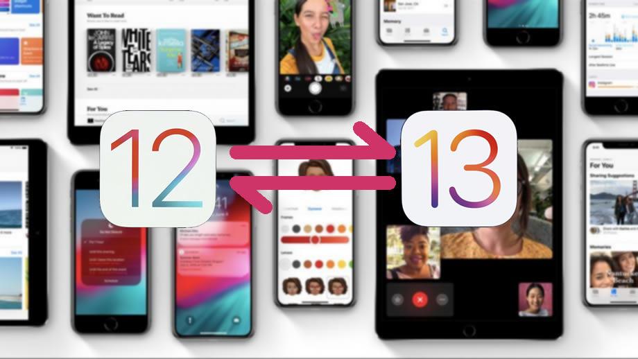 iOS 12 vs iOS 13