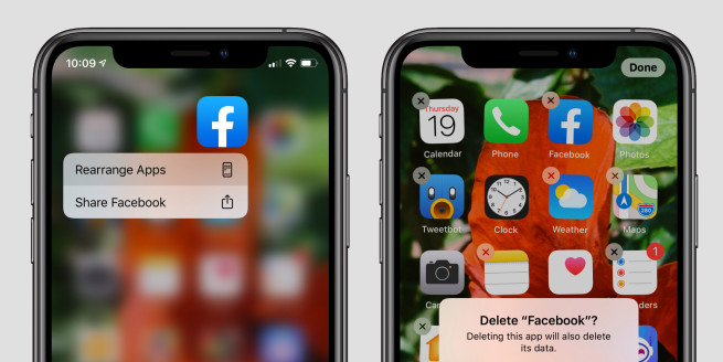 delete apps ios 13